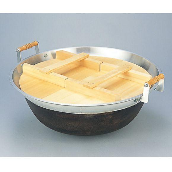 大型炊き出し器〈まかないくん85型オプション〉 85型平釜(木蓋付) [4253]