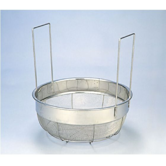 大型炊き出し器〈まかないくん85型オプション〉 長把手付ステンレスざる [4255]