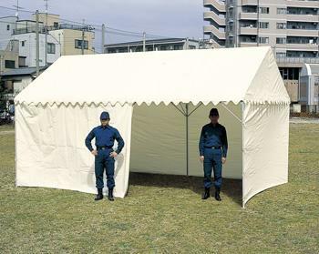 OK式テント 1.5×2間型 屋根幕+三方幕付 [6253]