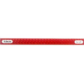 セミスタティック・ロープ・カラー 9.0㎜×100mレッド [EW0057]