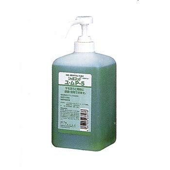 手洗い用石けん液 シャボネットユ・ムP-5 1kg×12本 ポンプ付 [23347]