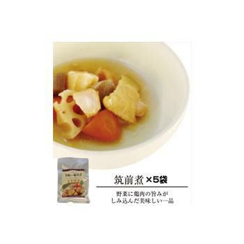 美味しい防災食 筑前煮 5袋 (常温賞味期限5年)